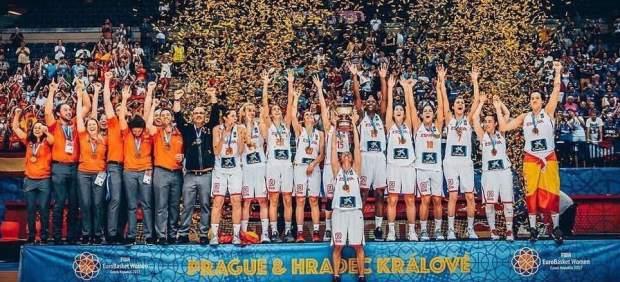 España, campeona de Europa de baloncesto sub-20.