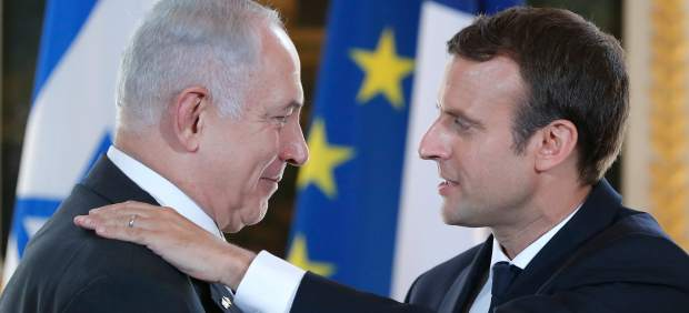 Emmanuel Macron y Benjamin Netanyahu