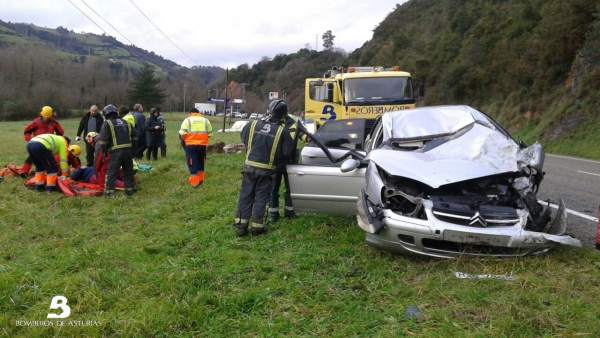Accidente en Salas