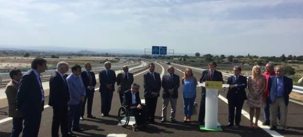 Íñigo de la Serna en el tramo entre Lleida y Rosselló de la autovía A-14
