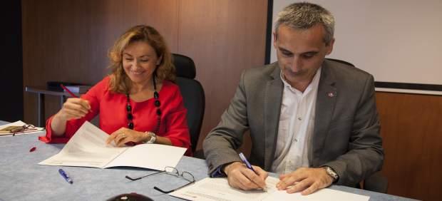 Martín y Rubio firman el convenio