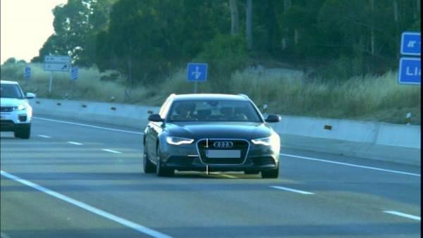 Vehículo del infractor denunciado por conducir a 197 km/h en Llagostera (Girona)