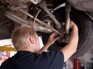 Ruedas, coche, mecánico