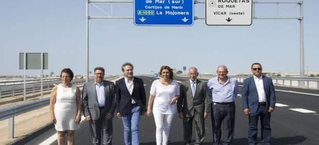 Díaz recorre el nuevo tramo de la Variante de Roquetas