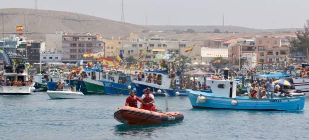 Embarcaciones en el puerto de Arguineguín