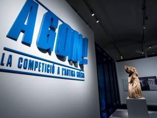 Una de las salas de la exposición 'Agón, la competición en la Antigua Grecia'