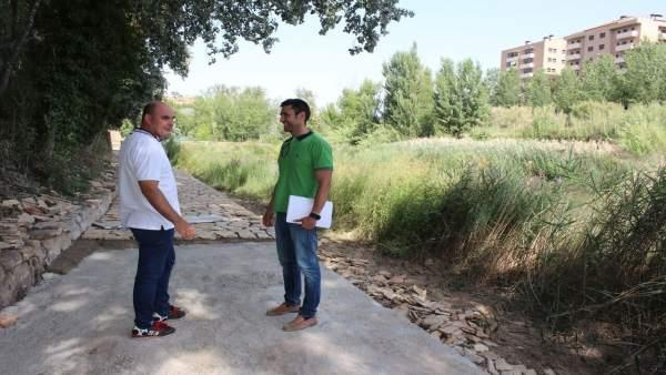 Gracia Suso y Vilaceballos han comprobado el estado de los trabajos
