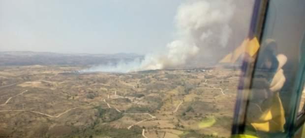 Imagen del incendio de Aldeadávila (Salamanca)