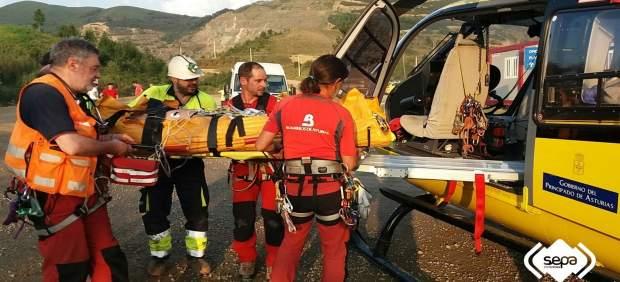 Intervención en un accidente laboral en Belmonte.