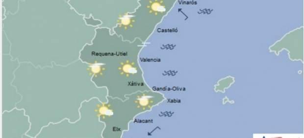 Arruixades disperses en àrees de muntanya de la Comunitat Valenciana i temperatures sense canvis