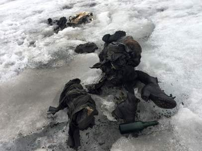 restos momificados de una pareja suiza en un glaciar
