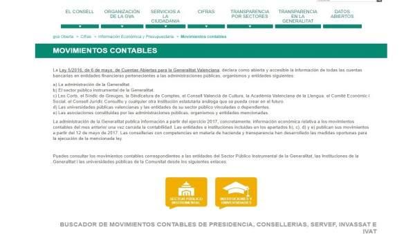 La Generalitat Valenciana culmina el destapament dels seus comptes en GVAOberta