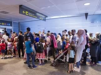 Llega a España un grupo de 204 refugiados sirios procedentes de Líbano