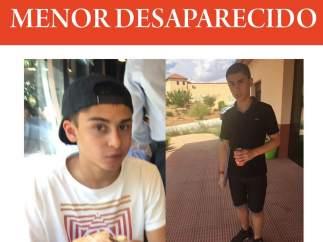 Menor desaparecido Rubén Ortega