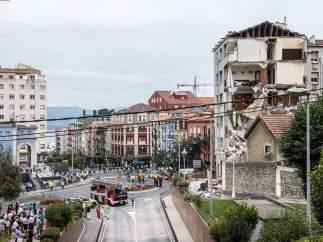 Edificio derrumbado en Santander