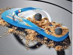 El postre, en una sandalia