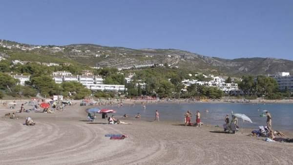 Instantánea de la playa de Las Fuentes