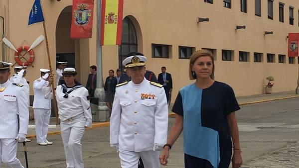 La ministra de Defensa en la Base Naval