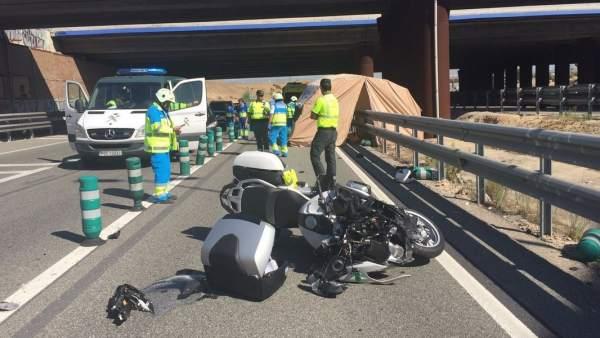 Accidente mortal M-50