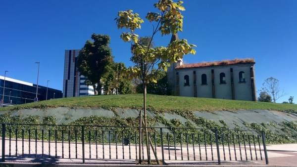 Iglesia de la Cadellada, capilla, nuevo HUCA