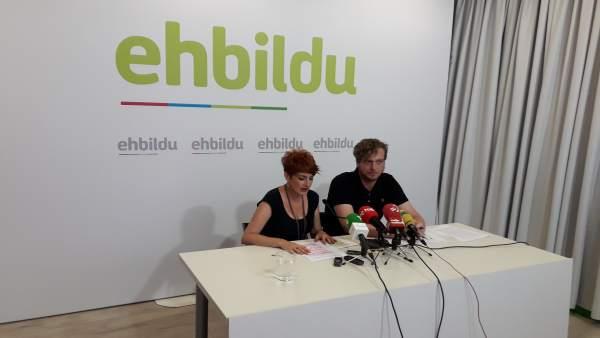 Bakartxo Ruiz y Maiorga Ramírez, de EH Bildu.