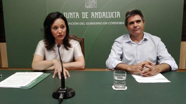 Crespín y Pérez Requena en la rueda de prensa
