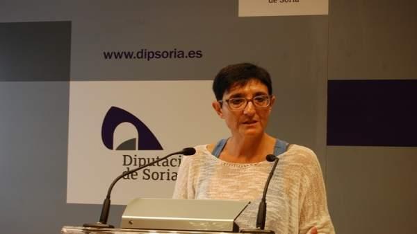 La presidenta de la Comisión de Igualdad, Pilar Delgado