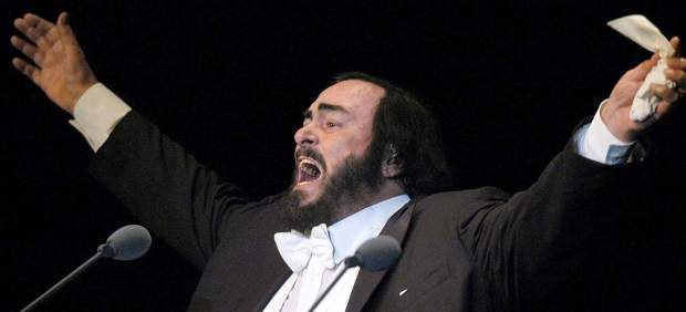 El tenor Luciano Pavarotti
