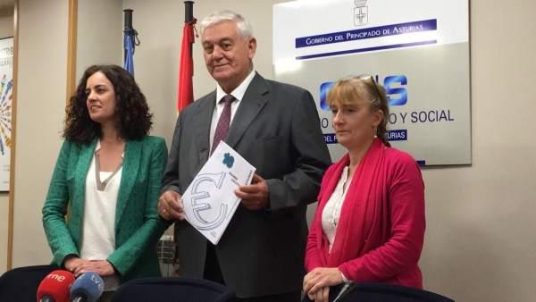 El CES presenta su informe sobre la situación de Asturias en 2016