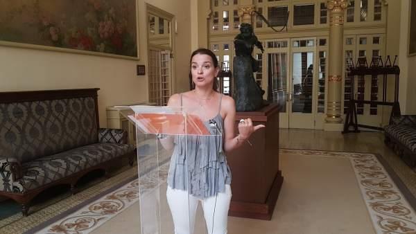 Margalida Prohens en el Parlament