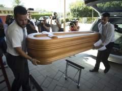 Traslado del cuerpo de Miguel Blesa