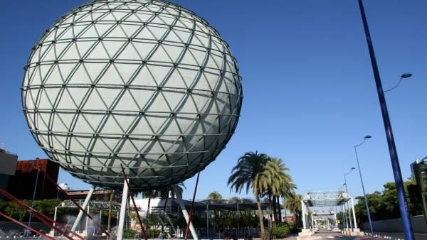 Esfera biolimática de la Cartuja, legado de la Expo.