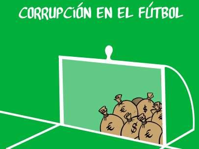 Corrupción en el fútbol. La viñeta de Malagón