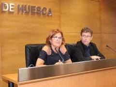 Maribel de Pablo y Marco Ibarz, de la Diputación de Huesca