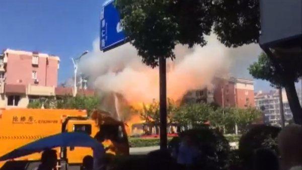 Impresionante explosión en una tienda en China