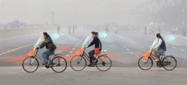 Un diseñador desarrolla 'bicis' que purifican el aire a su paso