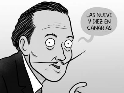 El bigote de Dalí. La viñeta de Teran