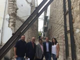 La Diputación de Jaén visita actuaciones en Sabiote