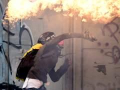 Una marcha opositora en Caracas desemboca en disturbios