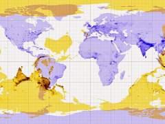 El mapa de qué hay en las antípodas de cada punto de la Tierra
