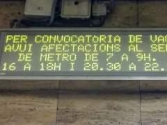 El Metro de Barcelona vuelve a hacer huelga este lunes