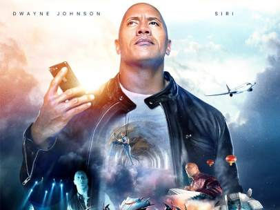 Dwayne Johnson y Siri