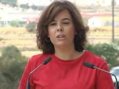 """Sáenz de Santamaría asegura que Rajoy declarará """"con la mejor disposición"""""""
