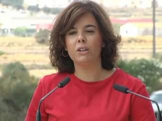 """Soraya: """"Rajoy declarará con la mejor disposición"""""""