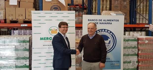 Mercadona entrega kilos de productos de primera necesidad a la fundaci n banco de - Banco de alimentos de navarra ...