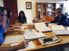Imagen de la comisión de evaluación de las becas