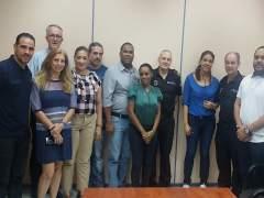 Visita de la delegadación del Ministerio de la Mujer a la Policía Local