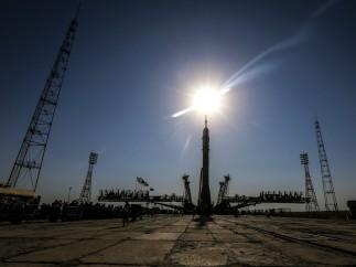Preparación para el lanzamiento de la Soyuz MS-05