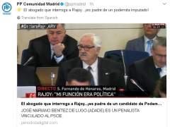 Tuit del PP de Madrid