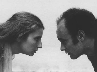 Un momento del happening Comfort Zones, Madrid, 1975